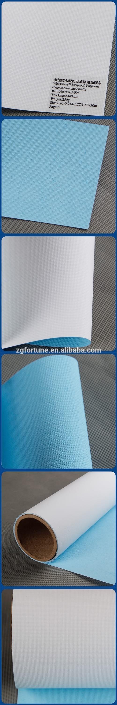 Waterproof Water base blue back matte Digital Printed fabric Polyester Canvas