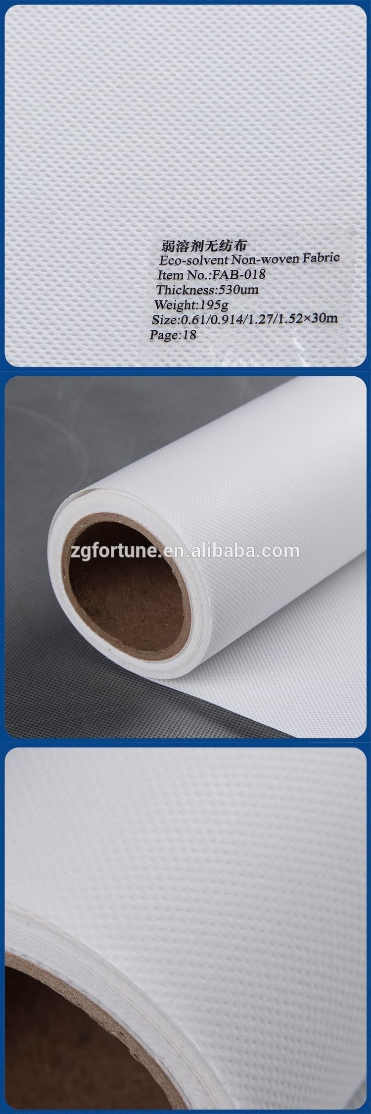 Hot sale Eco solvent digital printable advertising Fabric Non Weave inkjet Canvas