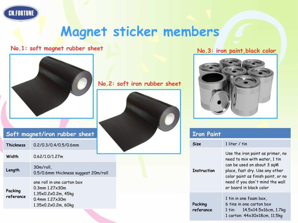 High quality rubber magnetic rubber magnet sheet
