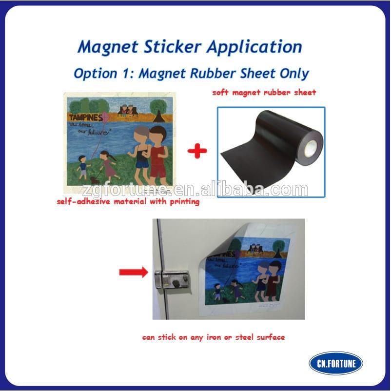 Flexible Rubber Magnet Sheet / Soft Rubber Magnet Sheet / Advertising Rubber Magnet Sheet in Roll
