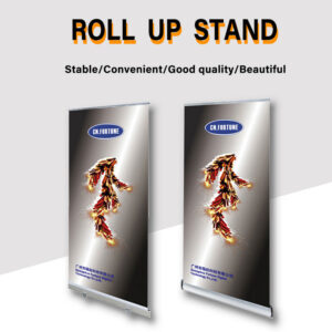 Customized Size Retractable Cheapest Aluminum Roll Up Banner Pull Up Stand For Advertising