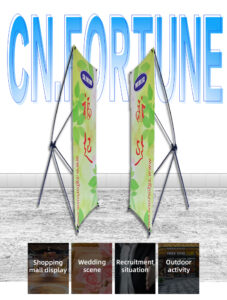 Economic Display Large Stand New Style Standing X Banner Stand Manufacturer