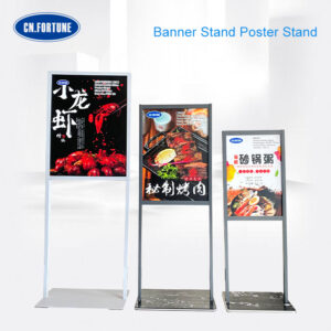China Supplier Custom Outdoor Indoor Double Sides Banner Stand Display Poster Stand For Promotion