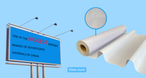 China Supplier Printing Materials High Visibility Reflective PVC Banner Flex Rolls For Advertising
